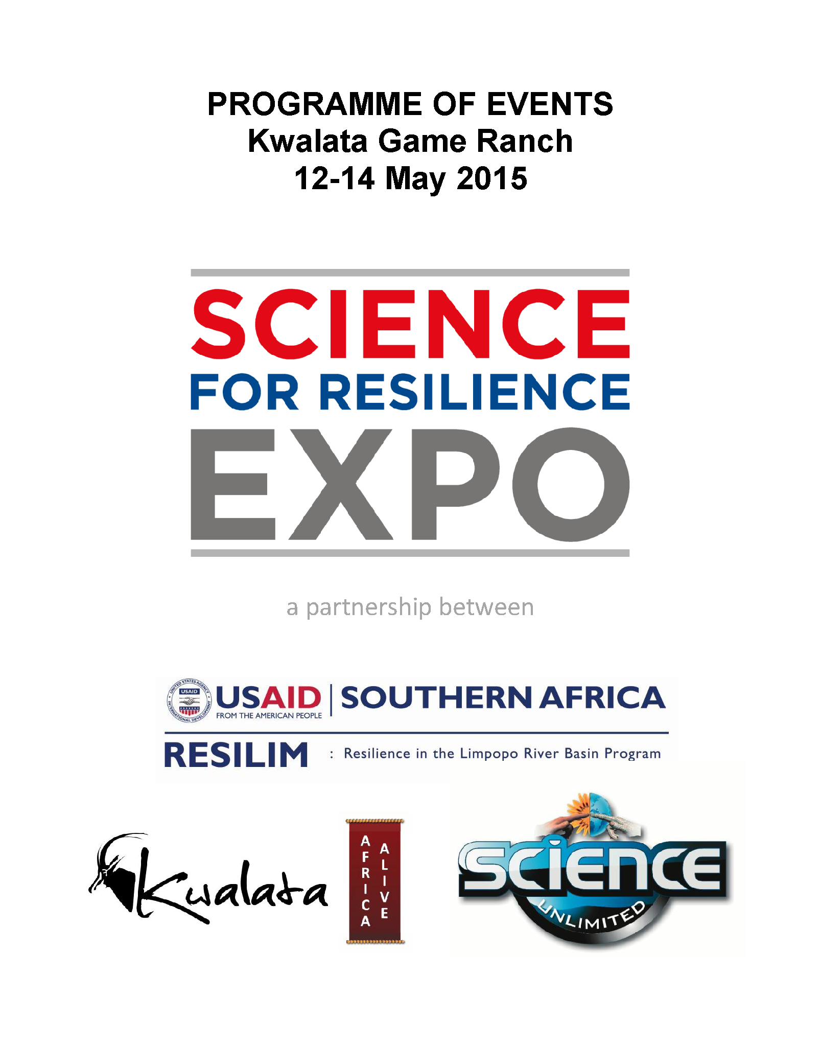 2015 Science for Resilience Expo